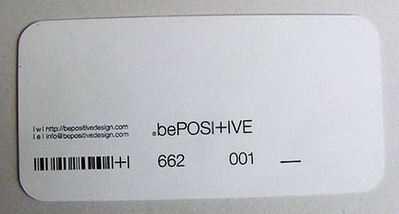 be positive business card