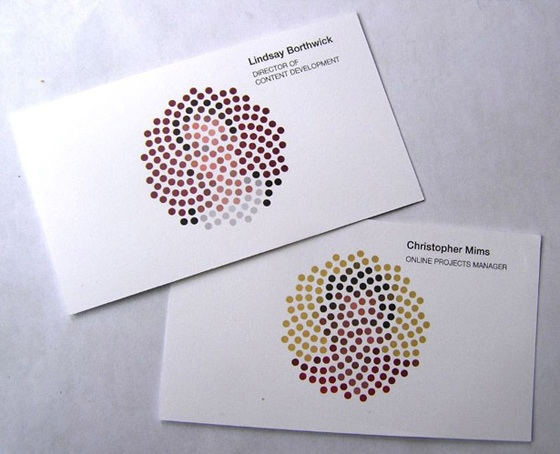 colorblind business card