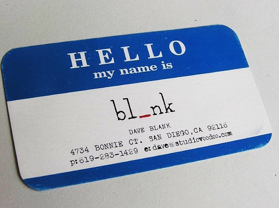 dave blank business card