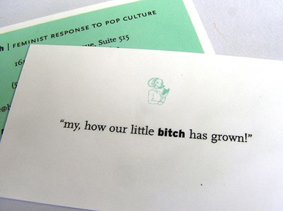 feminist business card