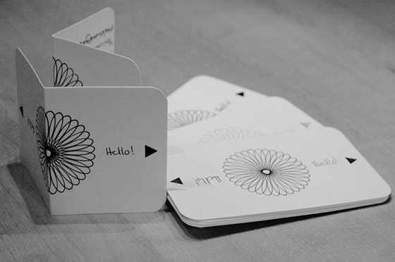 hand written business card
