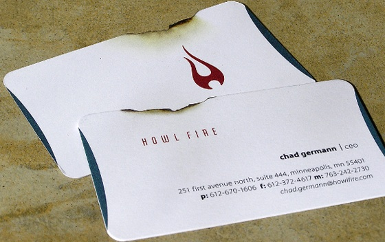 howl fire business card