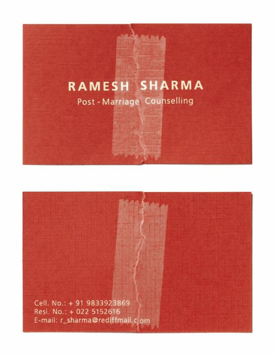 marriage counselling steel business card