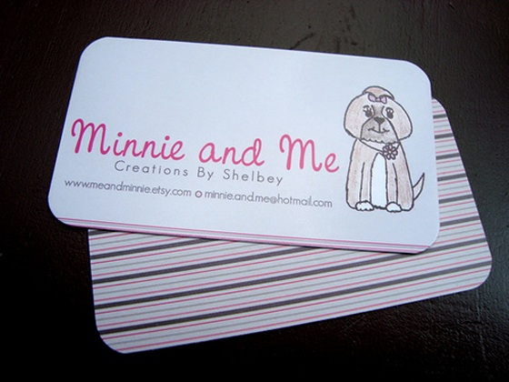 Minnie and me business card