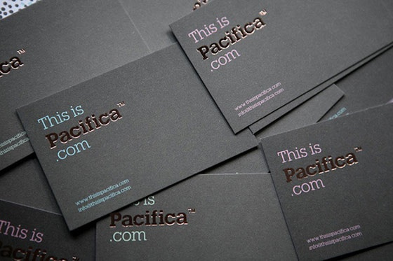 This is pacifica business card
