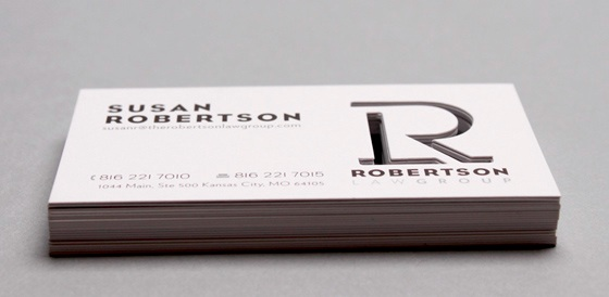 robertson law group business card
