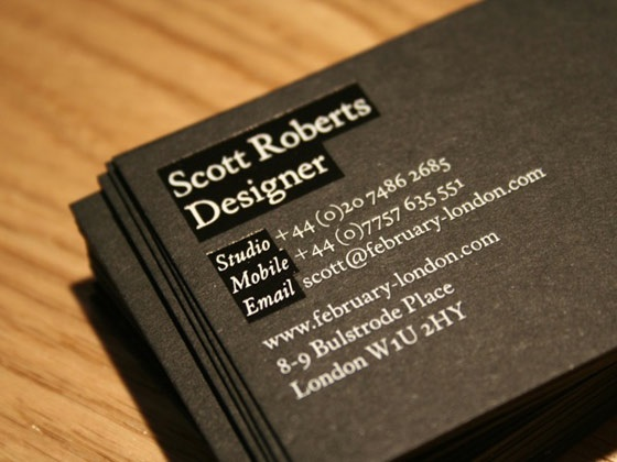 february london business card inspiration cardfaves
