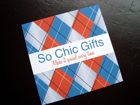 So Chic Gifts business card
