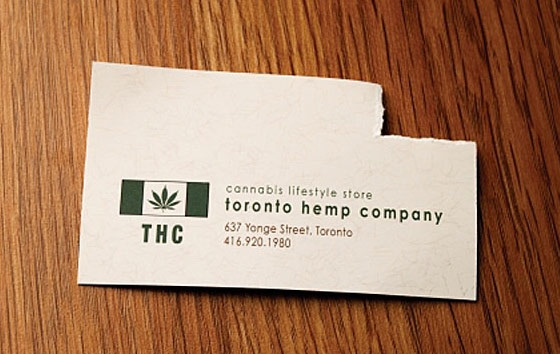 THC business card