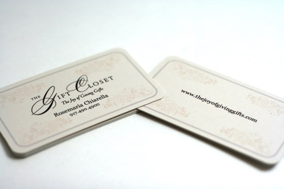 The joy of giving gifts business card
